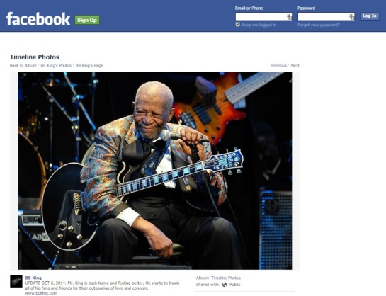 BB King Facebook